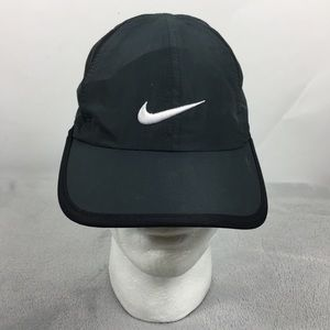 Nike Grey Black Men's Adjustable Strap Dri Fit Hat